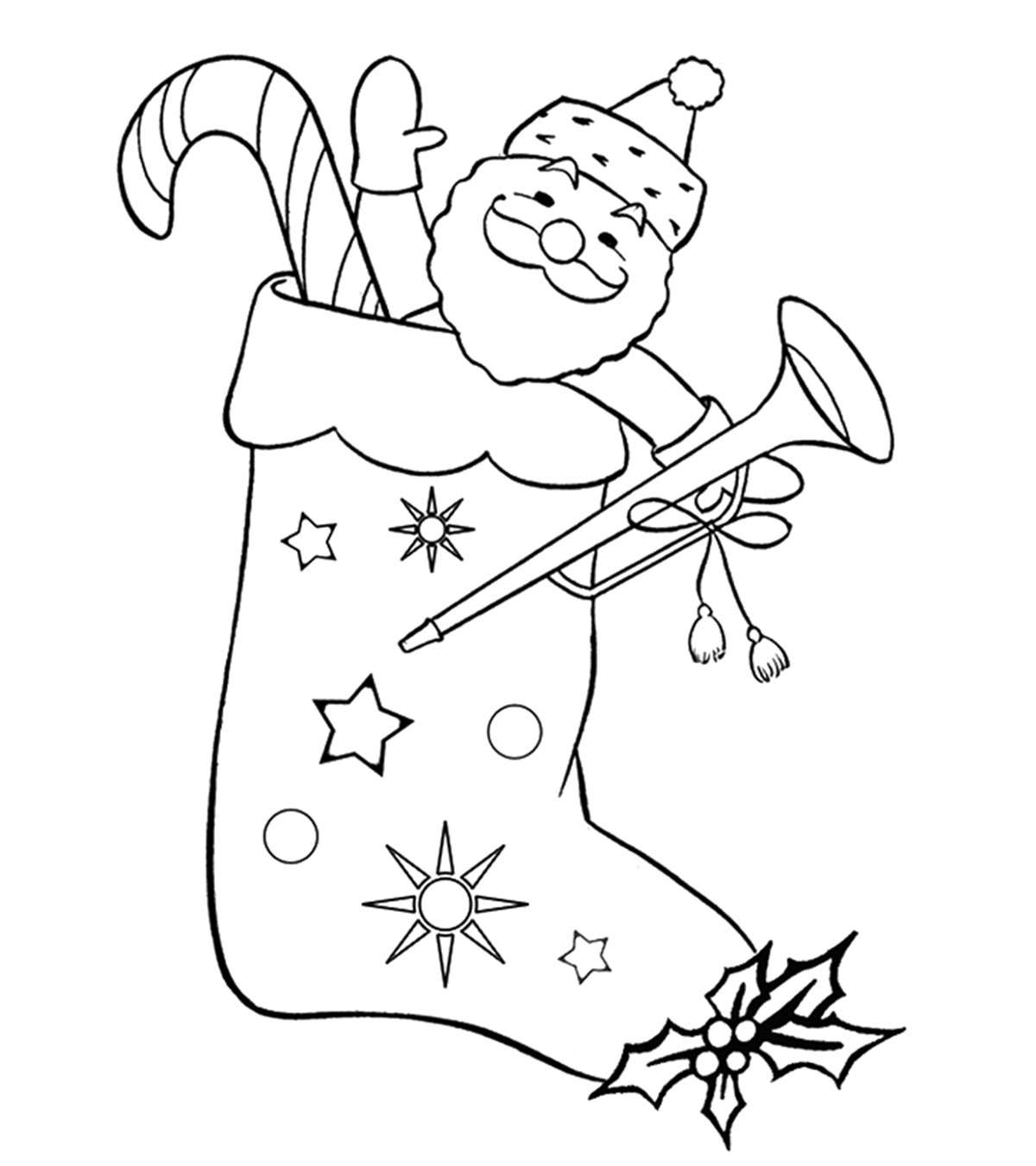 Free clipart many gifts one spirit coloring picture transparent stock Top 25 Free Printable Christmas Stocking Coloring Pages Online picture transparent stock