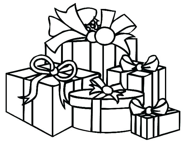 Free clipart many gifts one spirit coloring clipart freeuse stock christmas present colouring – freericardopalmera.org clipart freeuse stock