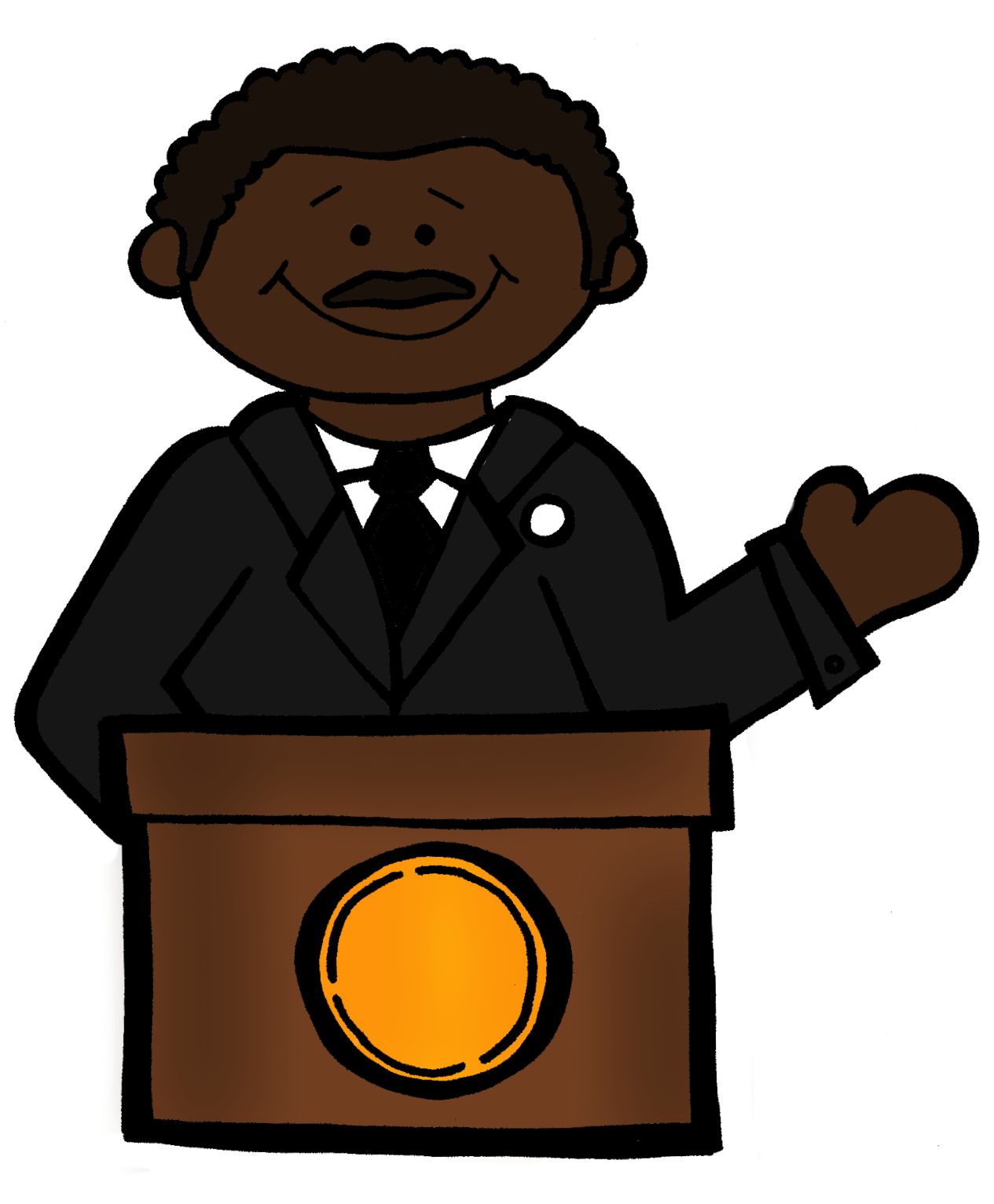 Free clipart martin.  luther king jr