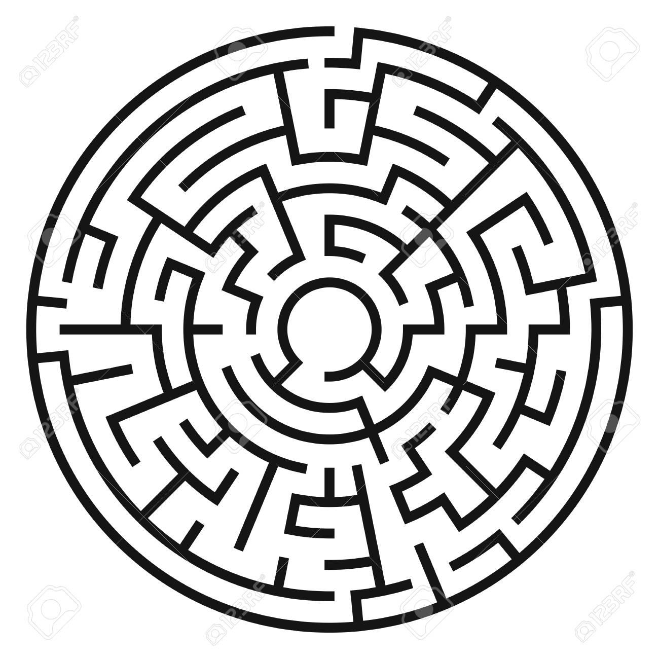 Free clipart maze. Circle download clip art