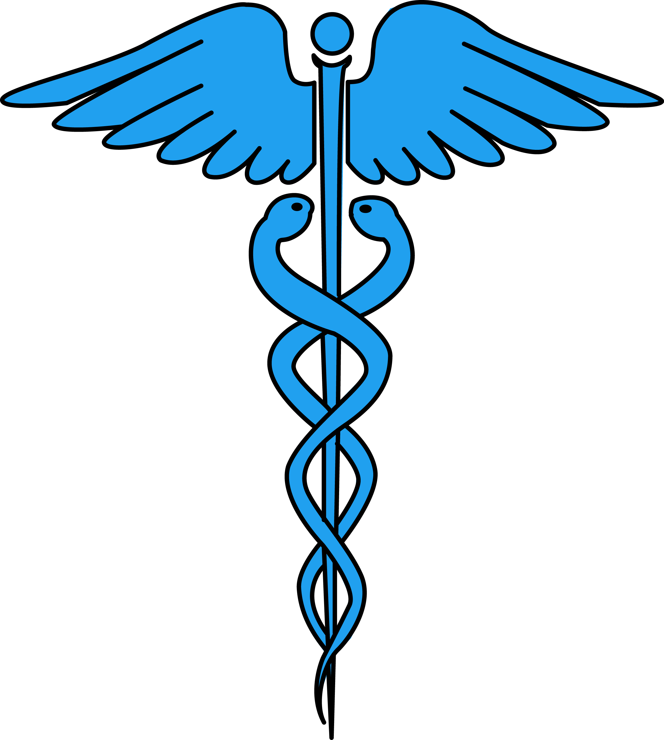 Pro med ambulance logo clipart black and white picture black and white Image for free caduceus medical symbol health high resolution clip ... picture black and white