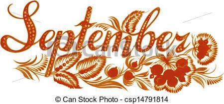 Free clipart month september jpg free month of september clip art | month - stock illustration, royalty ... jpg free