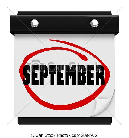 Free clipart month september svg transparent stock September month calendar clipart - ClipartFest svg transparent stock