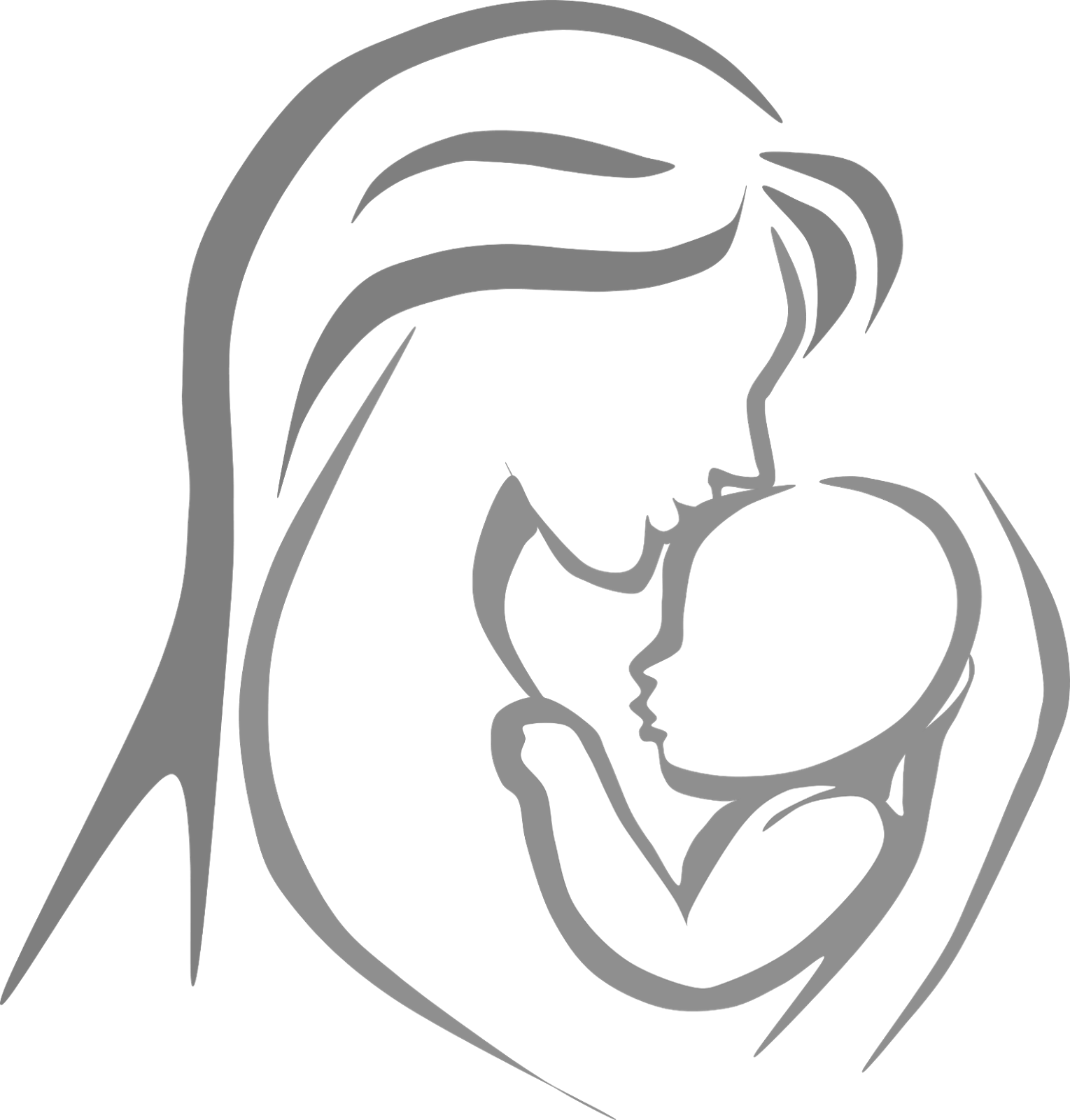 Free black and white clipart mother comforting child. D bf c ae