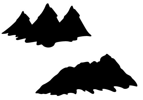 Mountain silhouette clipart free image black and white Mountain Silhouette Vector with Hills and Valleys Free Download ... image black and white