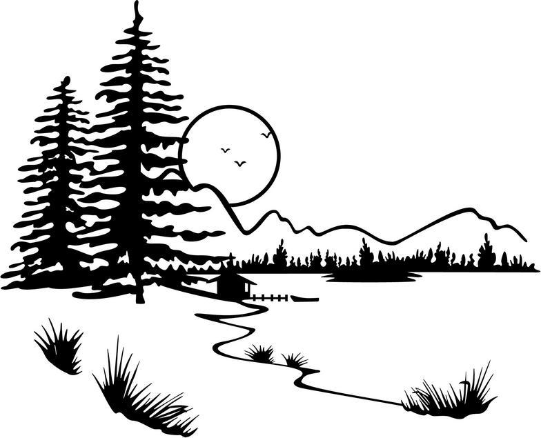Three season lake scene clipart jpg free Best Lake Clipart #12761 - Clipartion.com jpg free