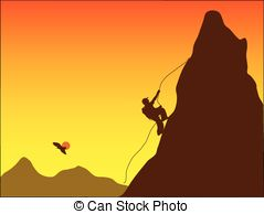 Illustrations and clip art. Free clipart mountain climber