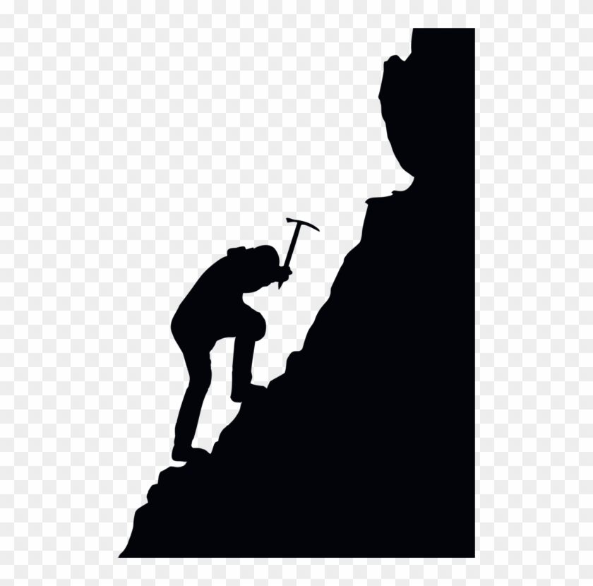 Free clipart mountain climber. Mountaineering climbing silhouette