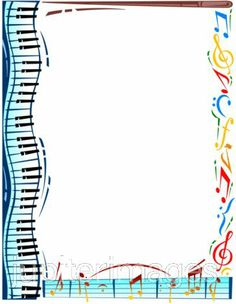 Free clipart music borders black and white library Free Music Borders Clip Art | Clipart Panda - Free Clipart Images black and white library