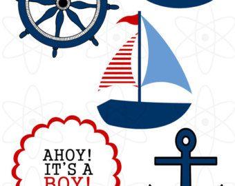 Free clipart nautical theme image free download Nautical Baby Shower Clipart | ClipArtHut - Free Clipart | Diaper ... image free download
