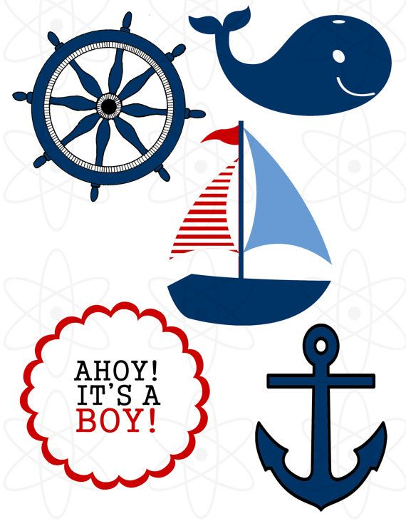 Nautical baby shower clipart png transparent library Nautical Theme Baby Shower by AtomDesign on Etsy, $6.00 | Jane\'s ... png transparent library