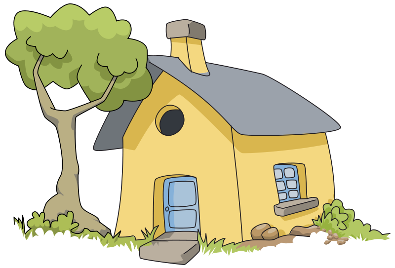 Free clipart new house svg transparent stock 28+ Collection of House In Woods Clipart | High quality, free ... svg transparent stock