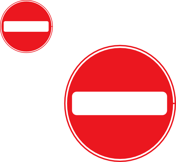 Two signs clip art. Free clipart no entry sign