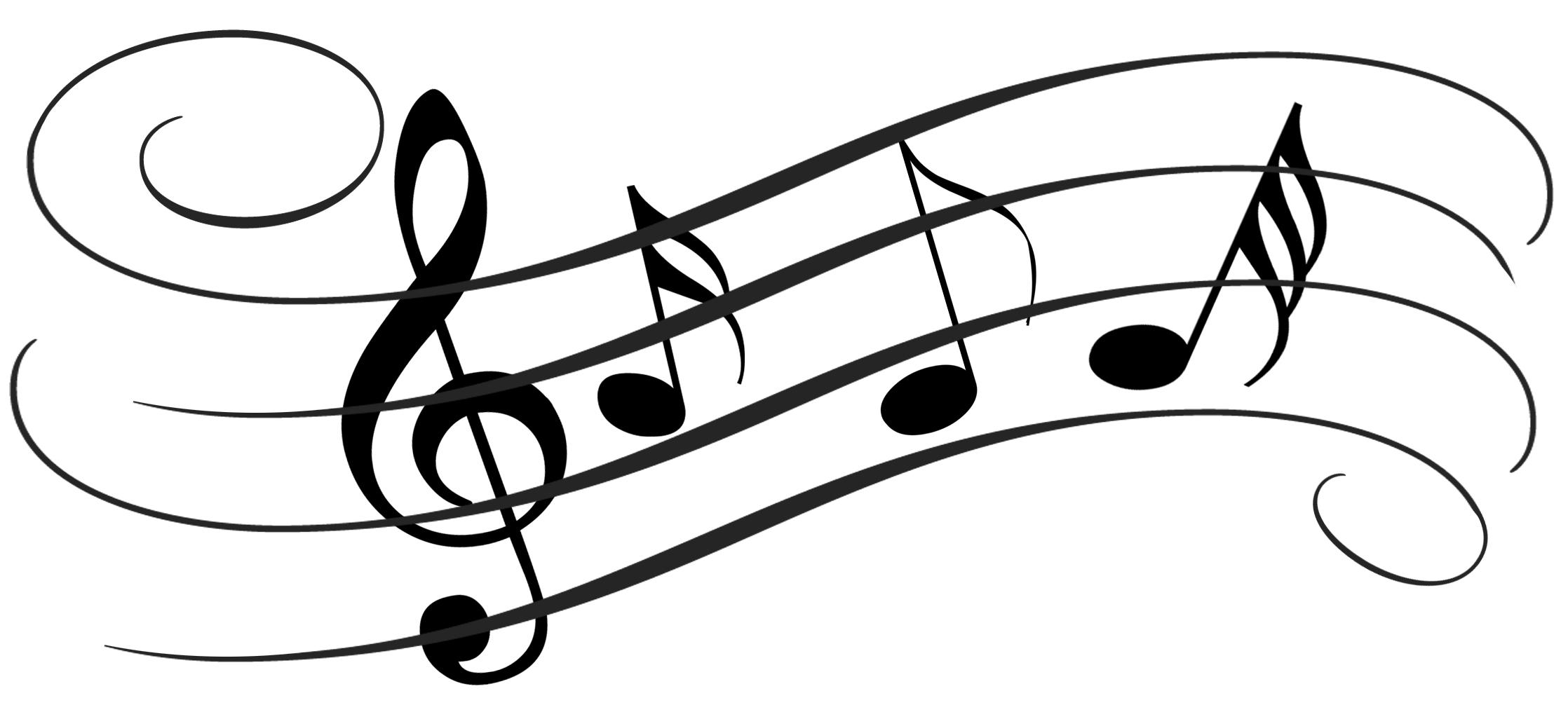 White christmas music clipart