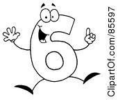Free clipart number 6 stock Royalty-Free (RF) Clipart of Numbers, Illustrations, Vector ... stock