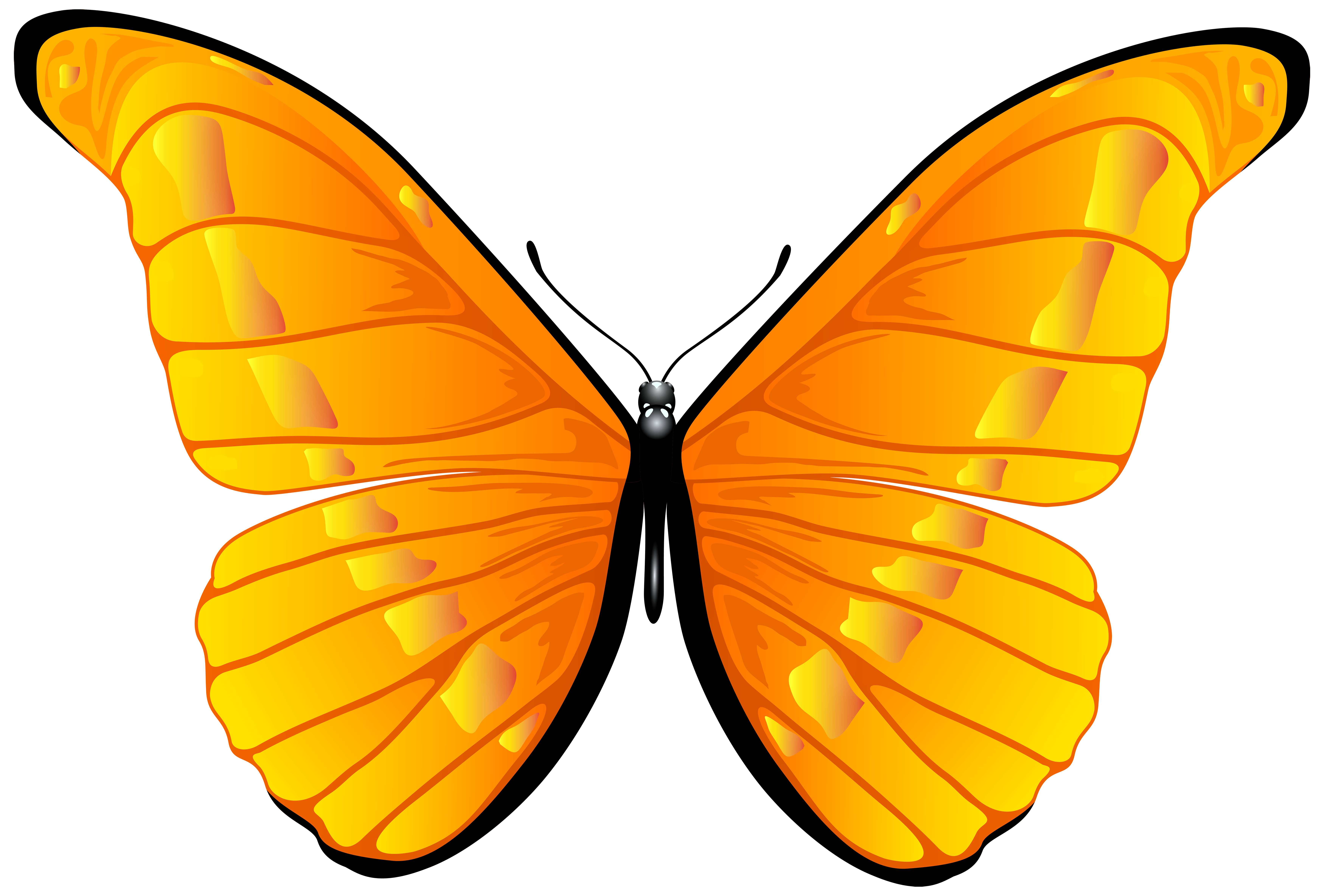 Free clipart of a butterfly graphic transparent download Orange Butterfly PNG Clip Art Image | Gallery Yopriceville - High ... graphic transparent download