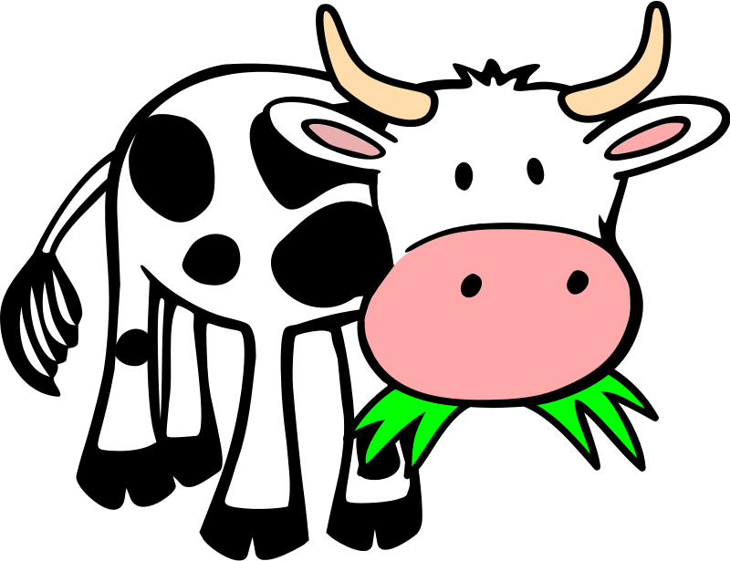 Sleeping brown cow clipart banner freeuse stock Cow Clipart & Animations - Free Graphics of Cows & Bulls | Young ... banner freeuse stock