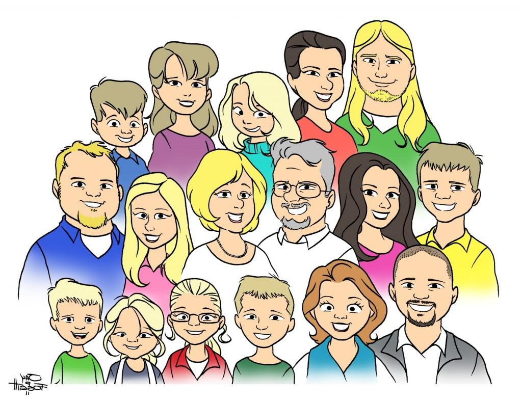Free clipart of a group of people or families jpg library Extended Family Clipart | Free download best Extended Family Clipart ... jpg library