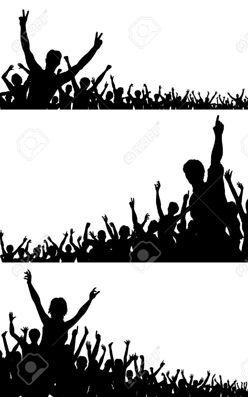 Free clipart of a outlining of crowd dancing vector library library Crowd Of People Silhouette | Free download best Crowd Of People ... vector library library