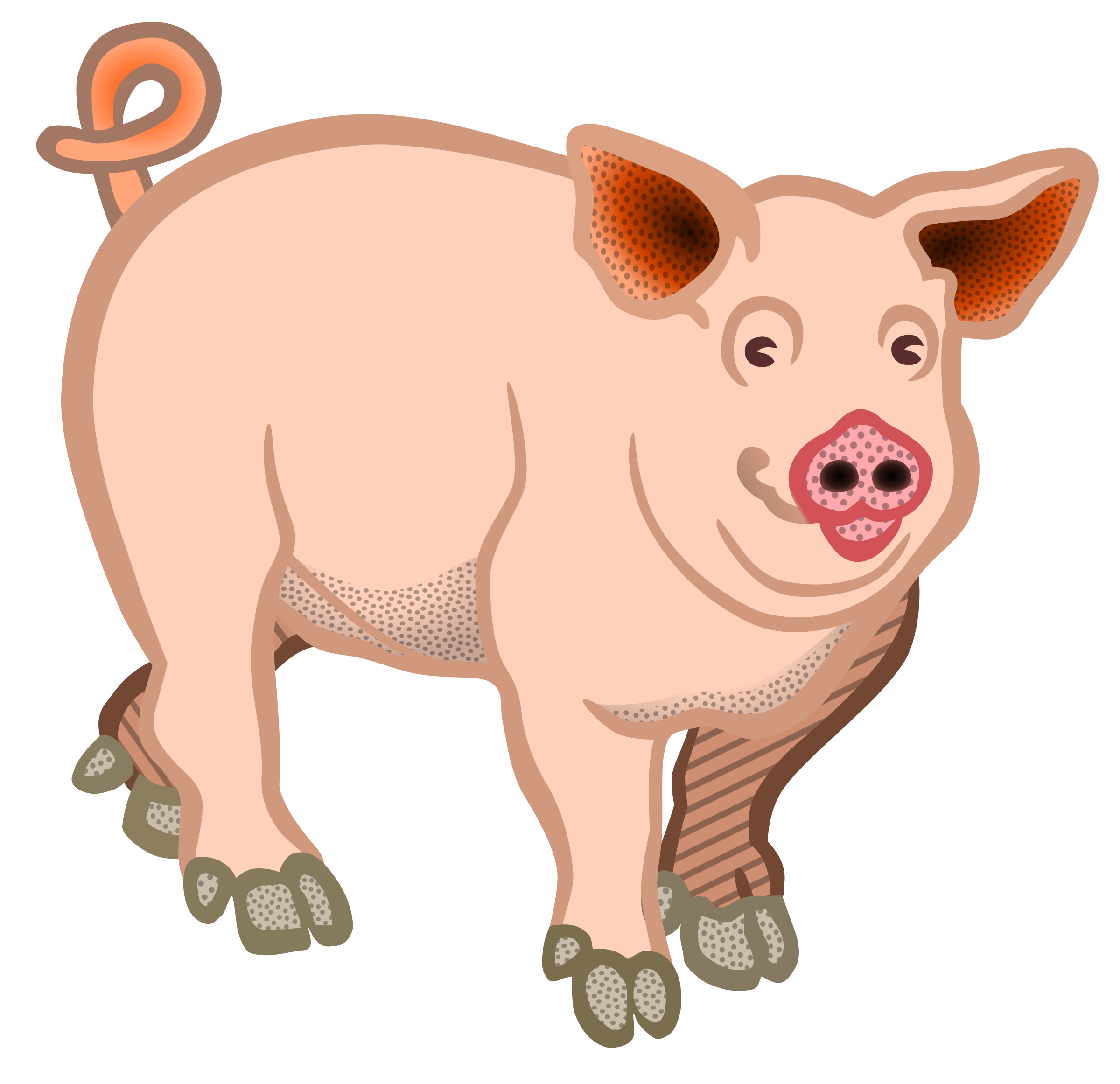 Cliparts for farm animal. Free clipart of a pig