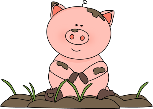 Pigs clipart png black and white download Free pig clip art from mycutegraphics.com | pigs | Pig in mud, Pig ... png black and white download