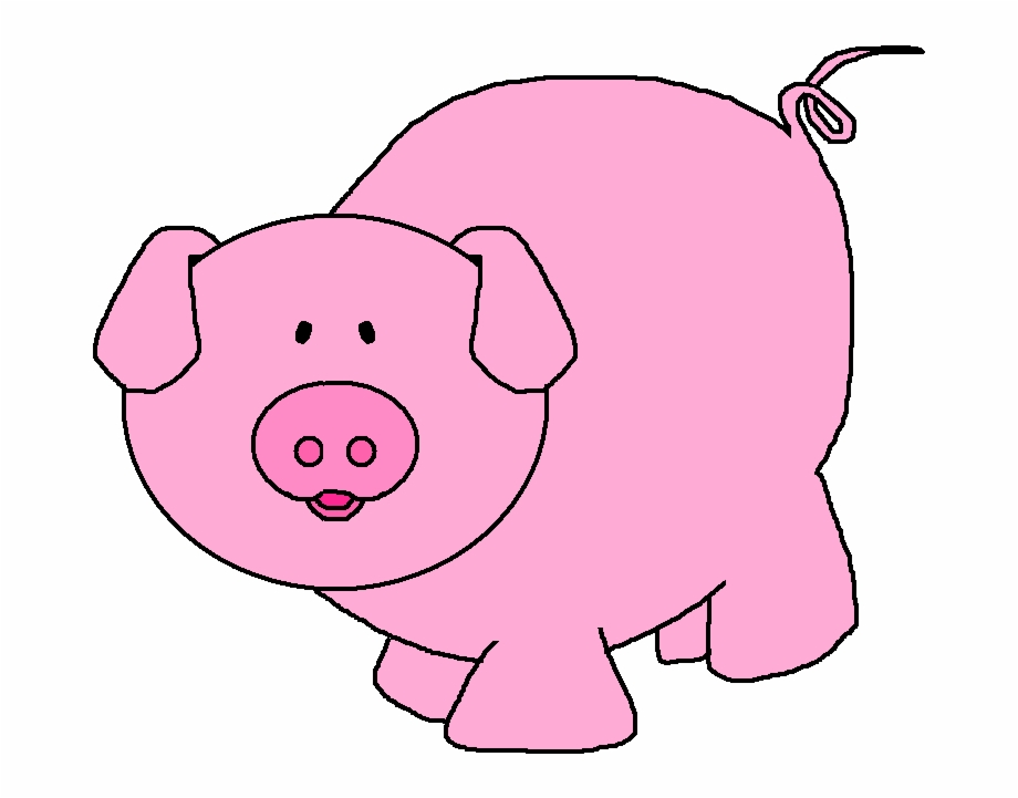 Free clipart of a pig. Pink clip art png