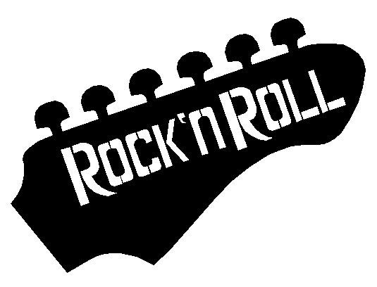 Free clipart of a rock and roll guitar. N head panda images