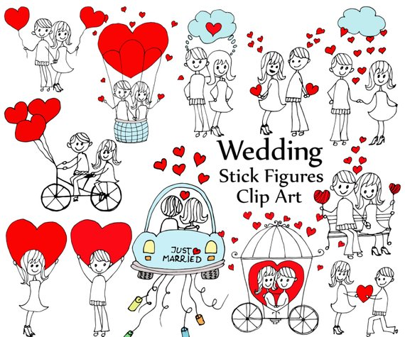 Free clipart of a stick figure bride and groom clipart royalty free stock Wedding stick figure clipart: \