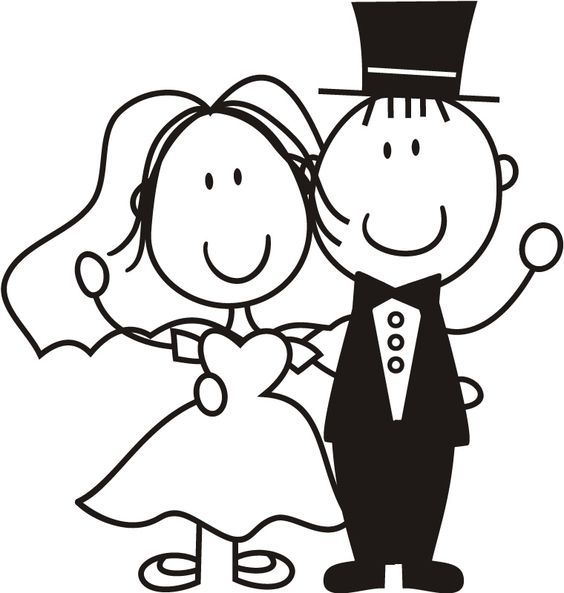 Free clipart of a stick figure bride and groom clip art black and white bride and groom stick people - Google Search | silhouette decals ... clip art black and white