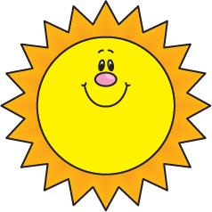 Sunshine with sunglasses clip. Free clipart of a sun