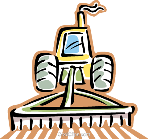 Free clipart of a tractor and plow graphic black and white download tractor plowing a field Royalty Free Vector Clip Art illustration ... graphic black and white download