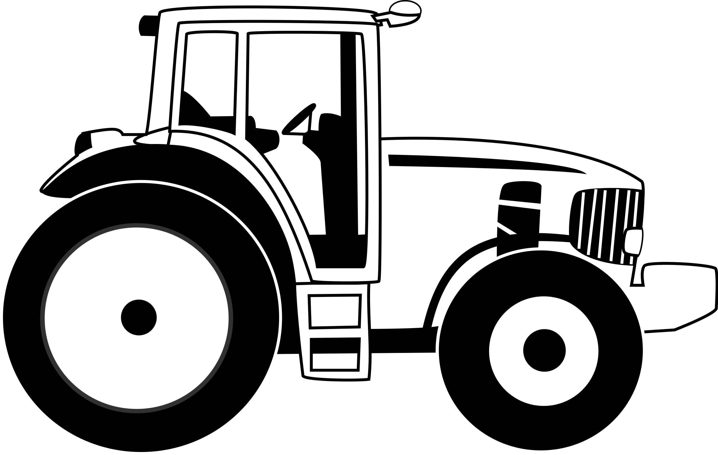 Tractor clipart black and white in field svg Pin by Teresa Goga on Brantlee | Tractor clipart, Tractors, White ... svg