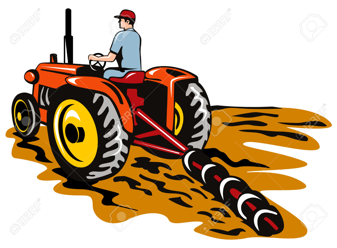 Free clipart of a tractor and plow jpg royalty free library Collection of Tractor clipart | Free download best Tractor clipart ... jpg royalty free library