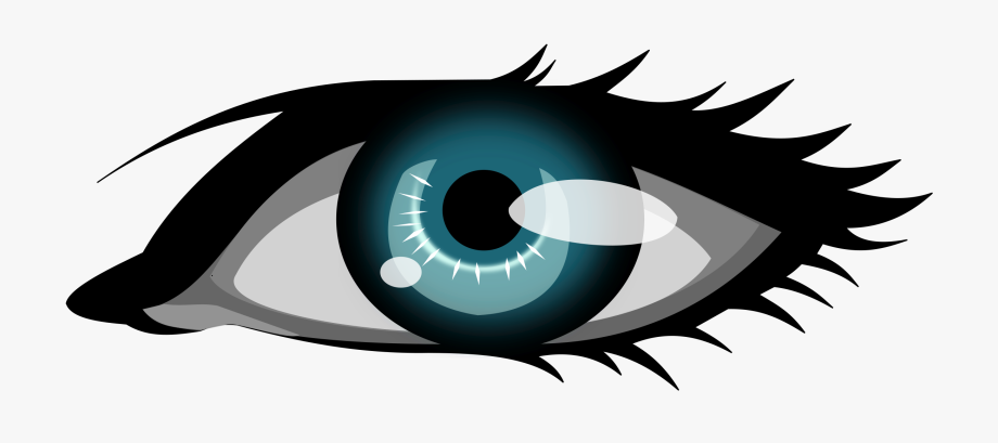 Olhar the blue clip. Free clipart of an eye