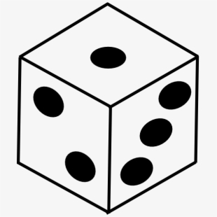 Cliparts silhouettes cartoons . Free clipart of black and white dice
