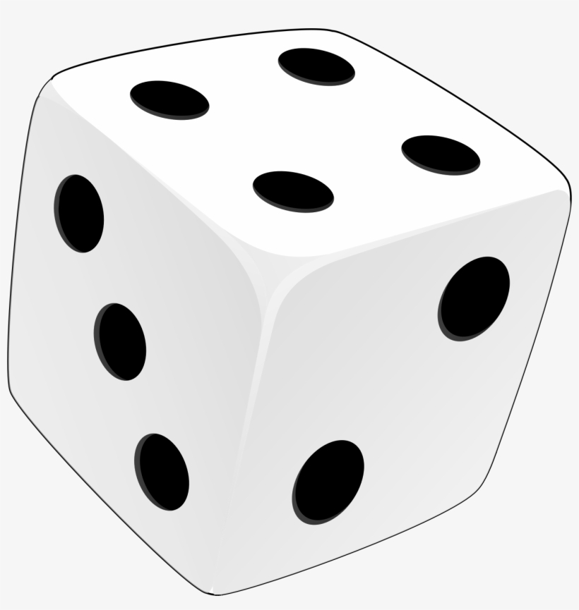 Png clip art . Free clipart of black and white dice