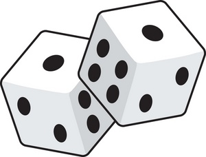 Free clipart of black and white dice. Clip art panda images