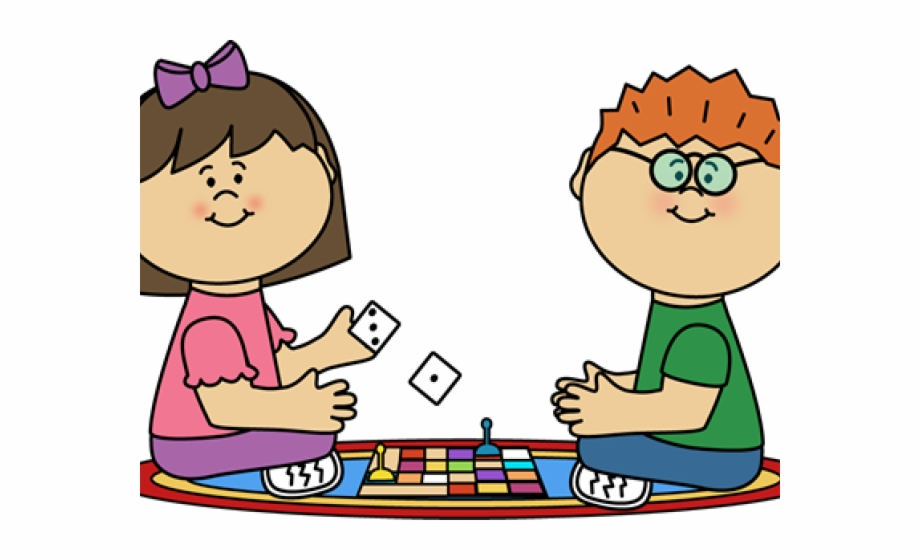 Match child kids playing. Free clipart of board games