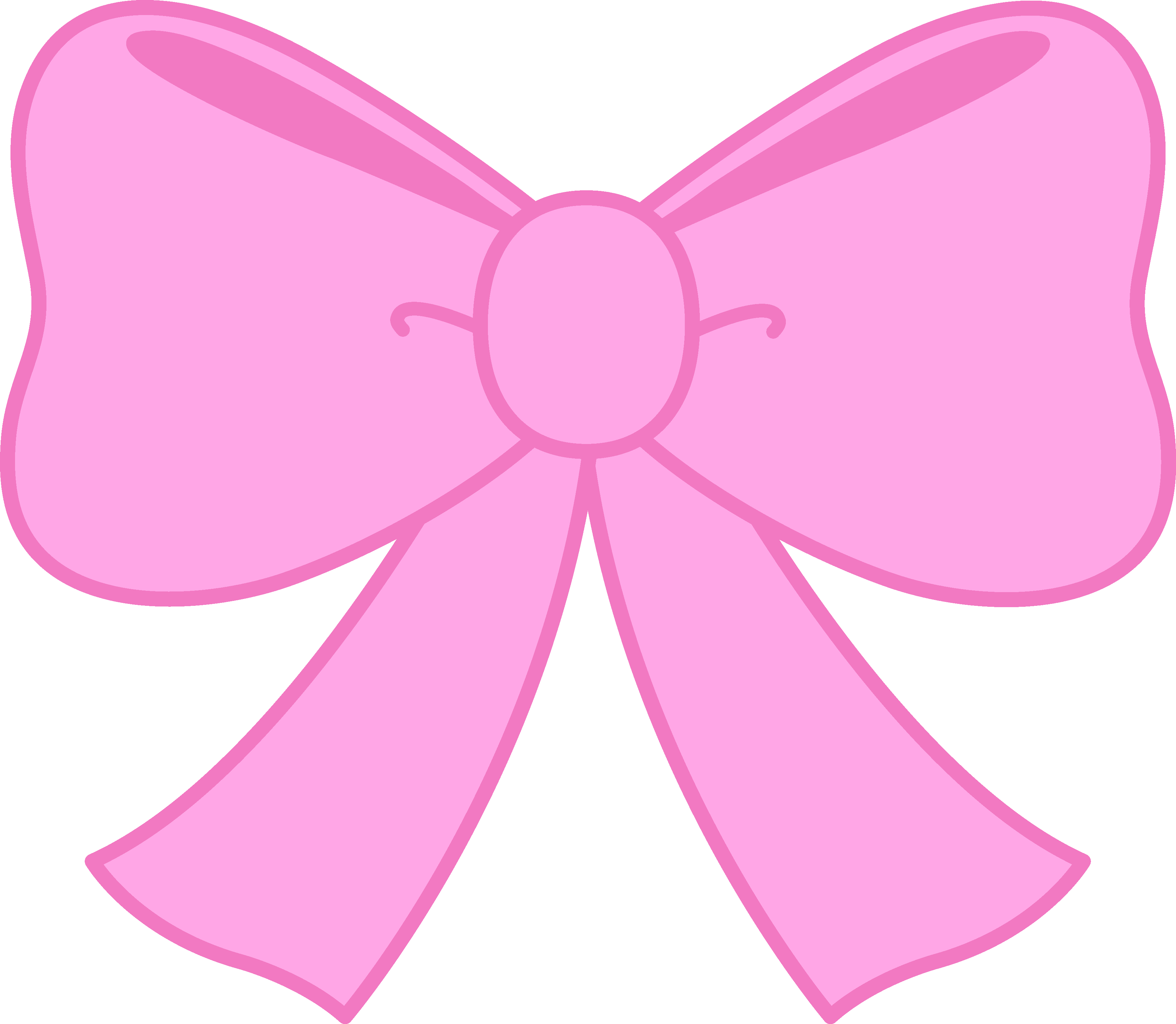 Free clipart of bows. Cute pink bow image