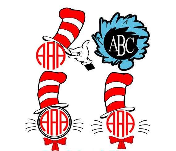Free clipart of cat in the hat font for cricut banner transparent library Cat in the Hat SVG, Dr Seuss, Monogram, Shirt Design, SVG Files ... banner transparent library