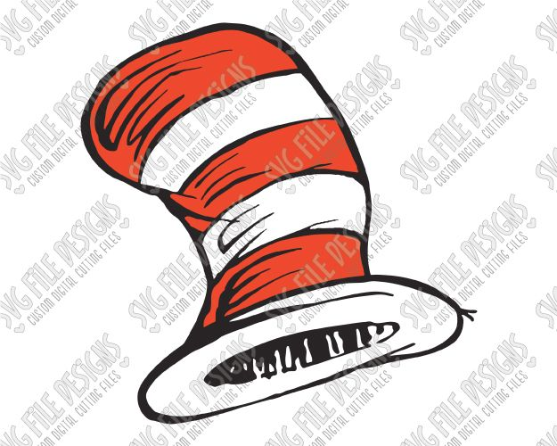 Free clipart of cat in the hat font for cricut banner freeuse Dr. Seuss Cat In The Hat SVG Cut File Set in SVG, EPS, DXF, JPEG ... banner freeuse