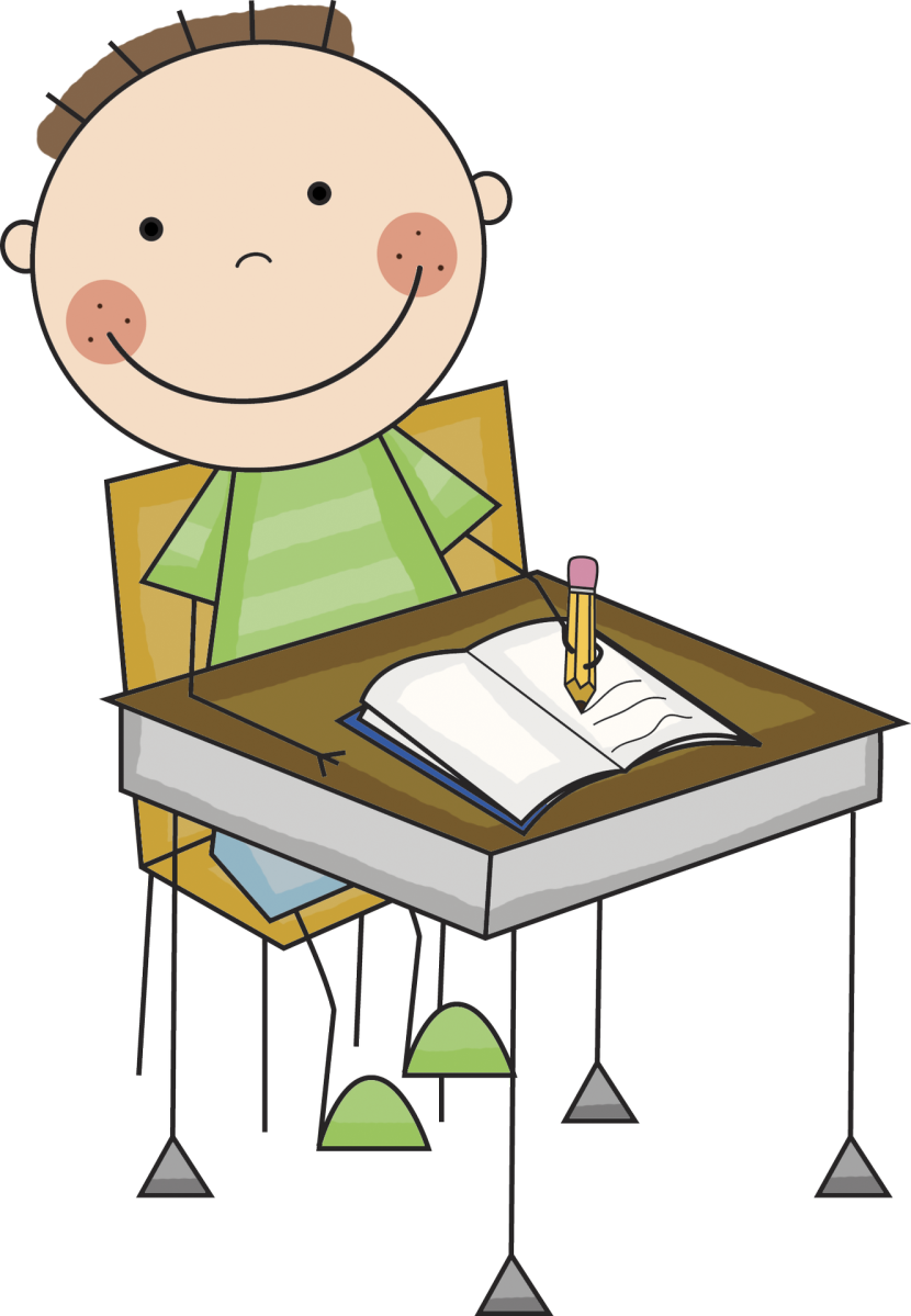 Free clipart of child with an equals sign