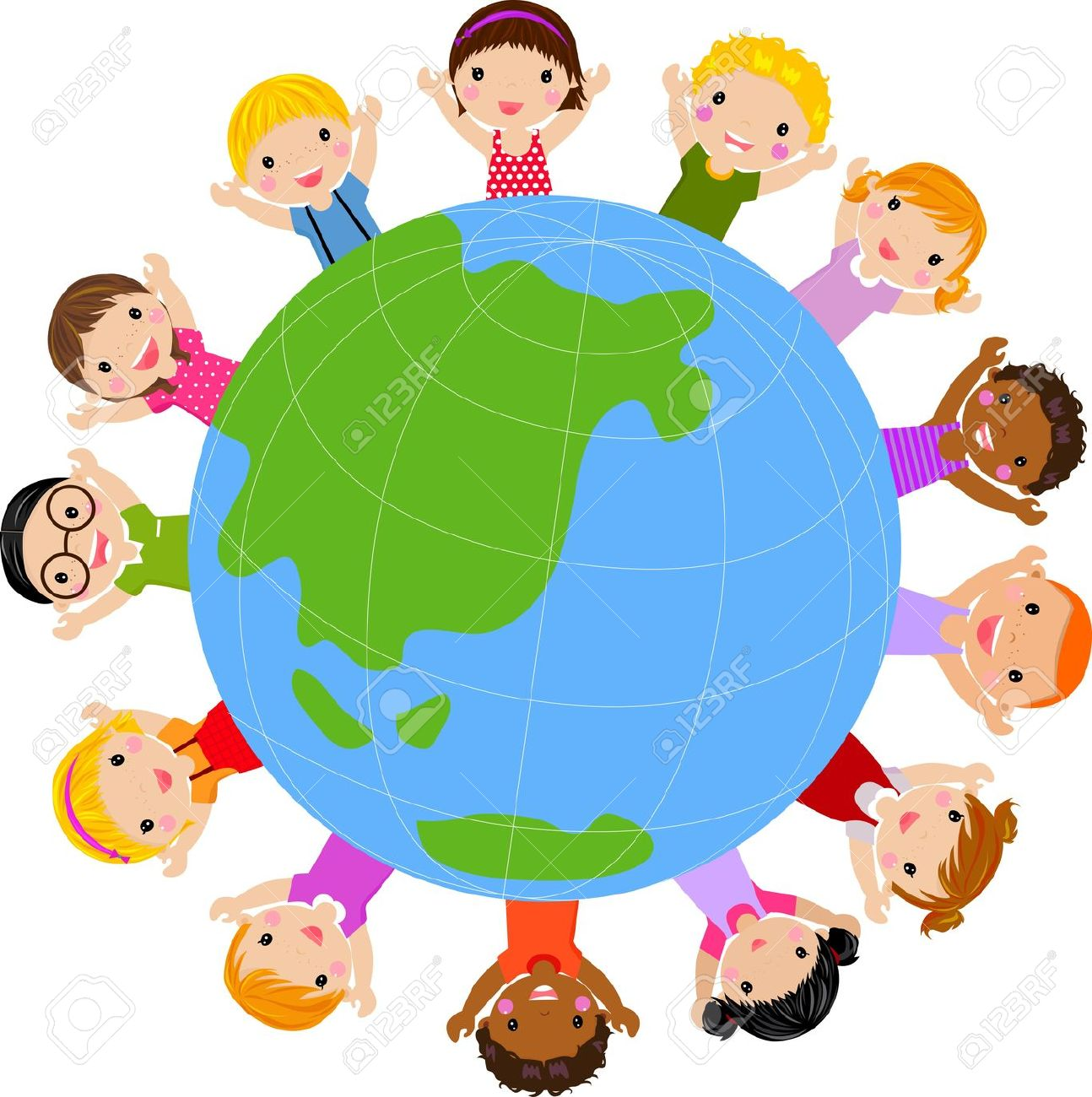 Free clipart of children learning around the world svg transparent stock Children Around The World Clipart | Free download best Children ... svg transparent stock