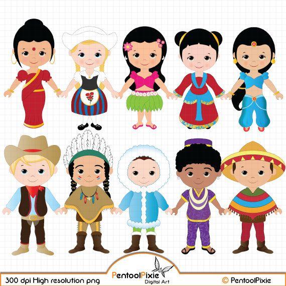 Free clipart of children around the world. Part