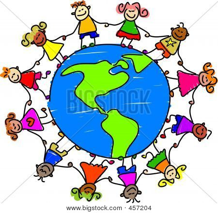 Free clipart of children learning around the world vector royalty free download Children Around The World Clipart | Free download best Children ... vector royalty free download