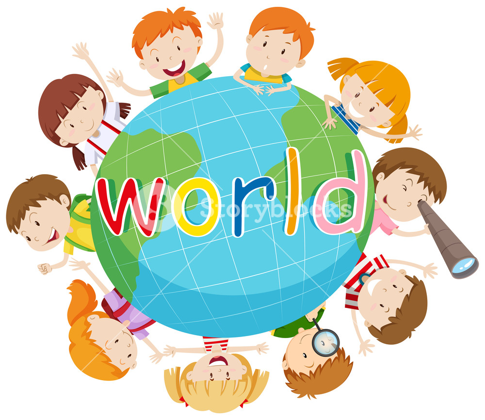 Free clipart of children learning around the world vector stock Children Around The World Clipart | Free download best Children ... vector stock