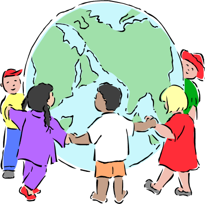 Free clipart of children learning around the world graphic free library Children Around The World Clipart | Free download best Children ... graphic free library