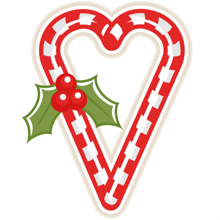 Free clipart of christmas candy hearts