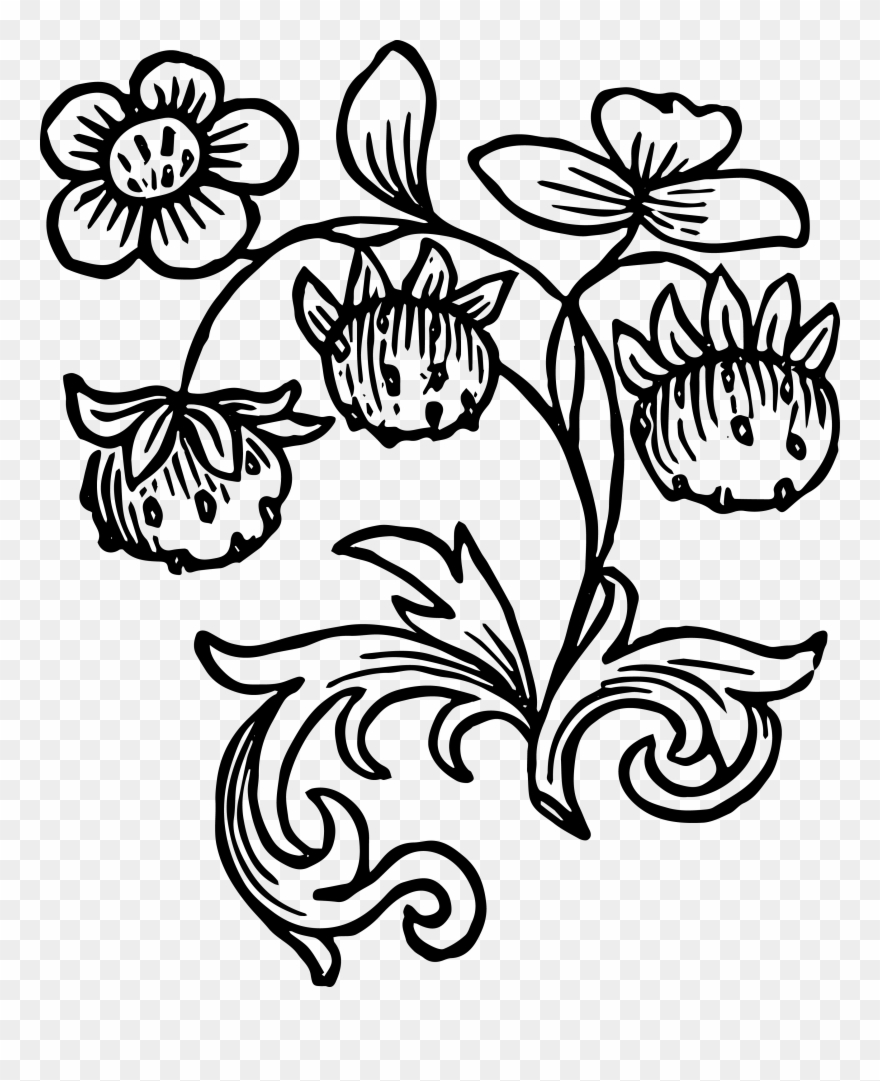 Free clipart of country side black and white vintage image free library Royalty Free Images Vintage Strawberries Clip Art - Black White ... image free library