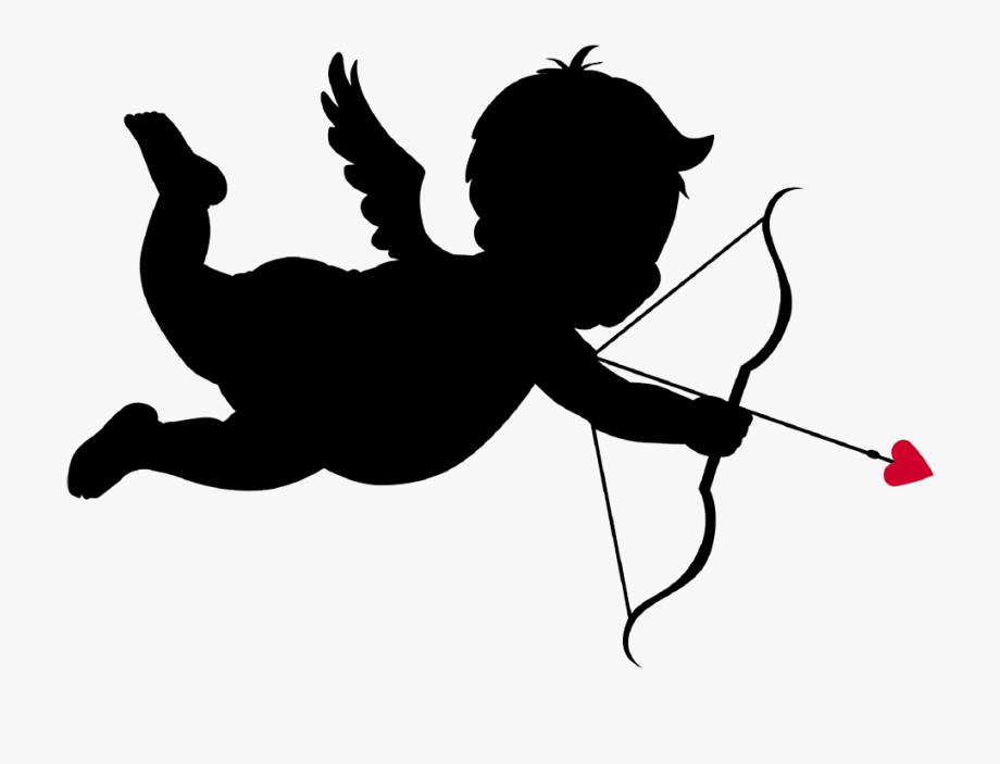 Free clipart of cupid. With bow and arrow